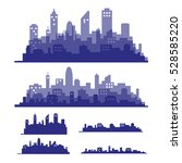 illustration silhouette city | Shutterstock .eps vector #528585220