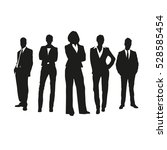 business people on silhouettes | Shutterstock .eps vector #528585454