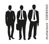 business people on silhouettes | Shutterstock .eps vector #528585463