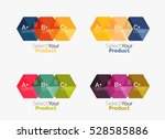 set of infographic templates... | Shutterstock .eps vector #528585886