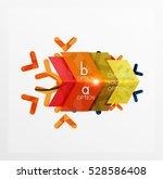 vector sale christmas banner... | Shutterstock .eps vector #528586408