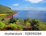 View Of Red Beach And Lagoon O...
