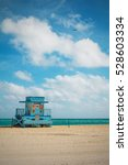 Miami Blue Lifeguard Tower And...