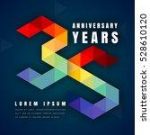 anniversary emblems celebration ... | Shutterstock .eps vector #528610120