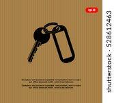 keys and  key chain  blank... | Shutterstock .eps vector #528612463