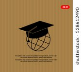 the graduation cap and globe... | Shutterstock .eps vector #528612490