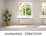 white empty room with  green... | Shutterstock . vector #528615244