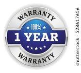 blue one year warranty badge  ... | Shutterstock .eps vector #528617656