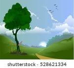 landscape  nature vector... | Shutterstock .eps vector #528621334