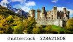 beautiful medieval castles of... | Shutterstock . vector #528621808