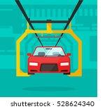 car production line vector... | Shutterstock .eps vector #528624340