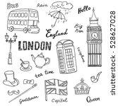 set of england symbols...   Shutterstock .eps vector #528627028