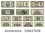 vector cartoon dollar banknotes ... | Shutterstock .eps vector #528627658