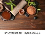 beautiful spa composition on... | Shutterstock . vector #528630118