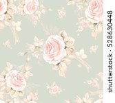 Stock photo watercolor seamless pattern roses in bud q beautiful pattern for decoration and design trendy 528630448