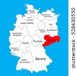 sachsen map  saxony state ... | Shutterstock .eps vector #528630550
