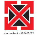 arrow icon. letter x vector... | Shutterstock .eps vector #528635320
