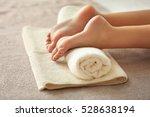 spa concept. female feet on... | Shutterstock . vector #528638194