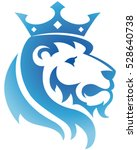 King Lion Icon. Vector...