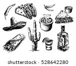 mexican traditional food menu.... | Shutterstock . vector #528642280
