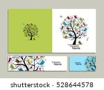 greeting card design  tree with ...