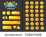 collection of glass buttons for ... | Shutterstock .eps vector #528647608