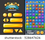 vector casual glass buttons for ... | Shutterstock .eps vector #528647626