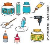 vector set of glue | Shutterstock .eps vector #528648064