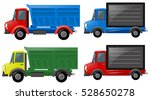 four trucks in different colors ... | Shutterstock .eps vector #528650278