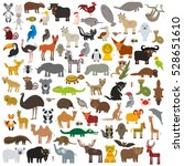 set cartoon animals from all... | Shutterstock . vector #528651610