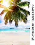 tropical island. the seychelles.... | Shutterstock . vector #528655990