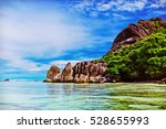 anse source d'argent  la digue... | Shutterstock . vector #528655993