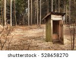 Rustic Old Wooden Toilet In Th...