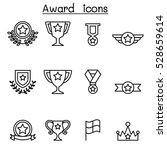 award   winning icon set in...