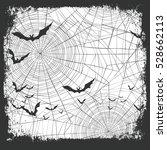 halloween border for design.... | Shutterstock . vector #528662113