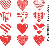 valentine day hearts | Shutterstock .eps vector #528663013