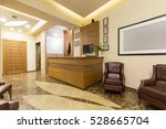 reception area with wooden... | Shutterstock . vector #528665704