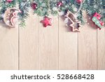 christmas background with... | Shutterstock . vector #528668428
