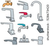 vector set of faucet | Shutterstock .eps vector #528673420