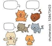 vector set of cat | Shutterstock .eps vector #528673423