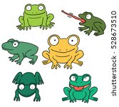 vector set of frog | Shutterstock .eps vector #528673510
