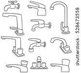 vector set of faucet | Shutterstock .eps vector #528673558