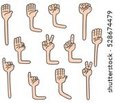 vector set of cartoon arm | Shutterstock .eps vector #528674479