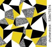 Yellow Triangles. Geometric...