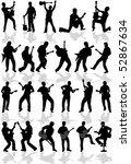 silhouette guitar different...   Shutterstock .eps vector #52867634