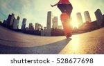 skateboarder skateboarding at... | Shutterstock . vector #528677698