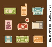 decorative icon set. old...   Shutterstock .eps vector #528678484