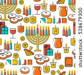 hanukkah seamless pattern....   Shutterstock . vector #528679300