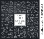 vector set with food and drink... | Shutterstock .eps vector #528681664