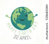 earth day illustration. earth... | Shutterstock . vector #528682084